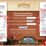 www.MontanasFeedback.com, $500 Gift Card Montana's Guest Survey