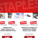 www.mystaplessurvey.ca, $1,000 My Staples Canada Guest Survey