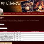 www.pfchangs.com/Survey/ - P.F.Chang's Customer Survey