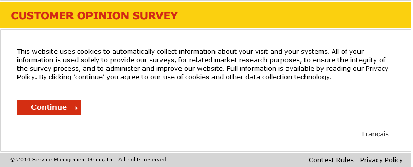 www.shell.ca/opinion - Shell Customer Opinion Survey