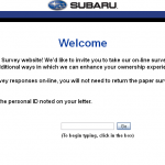 www.survey.subaru.com - Subaru Owners Survey