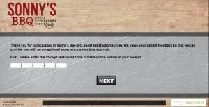 www.talktosonnys.com - Sonny's BBQ Guest Satisfaction Survey