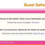 www.telldunkin.com - Win Prize Dunkin     ' Donuts Guest Survey