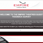 www.tellusaboutempire.com - Empire Theatres Guest Feedback Survey