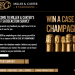www.wewantyourviews.com - Free Champagne Miller & Carter Guest Survey